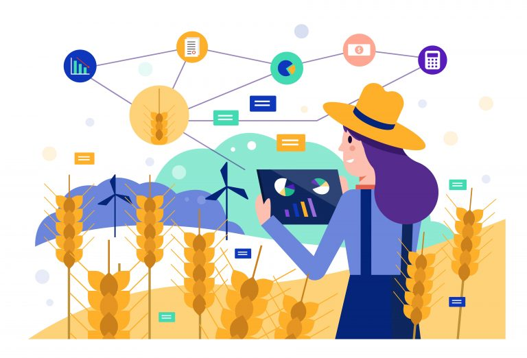 Agriculture work graphic